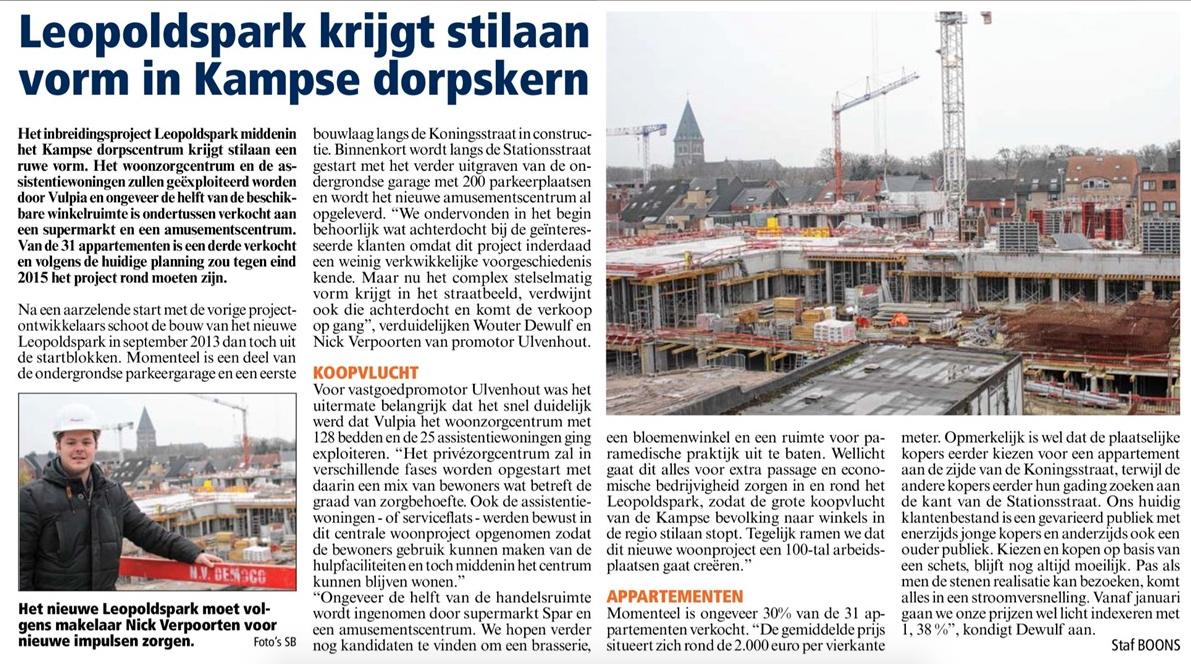 ARTIKEL Tussentijds artikel 1 Het Belang van Limburg 28112014