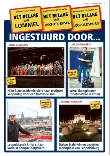 ARTIKEL tussentijds artikel 2 Het Belang van Limburg 28112014