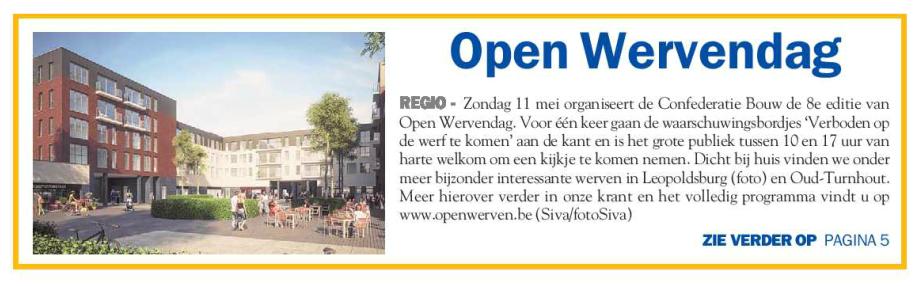 De weekkrant Mol Geel frontpage 7 mei 2014