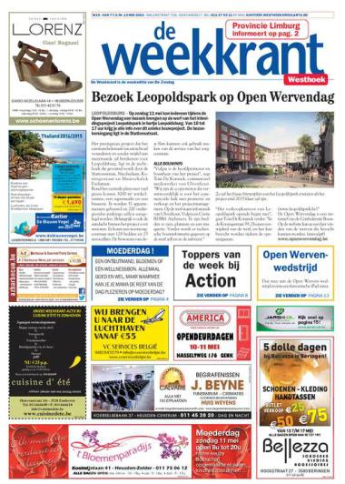 De weekkrant frontpage 7 mei 2014
