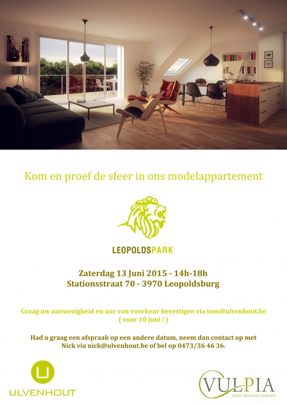 uitnodiging modelappartement